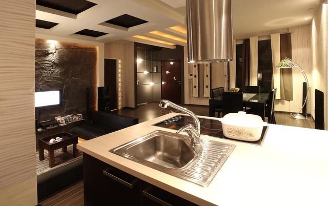 小户型现代厨房样板房装修设计 (2/4)