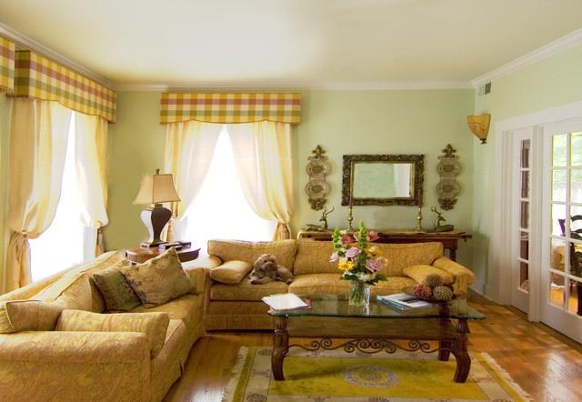 最新小复式田园风格客厅窗帘装修效果图
