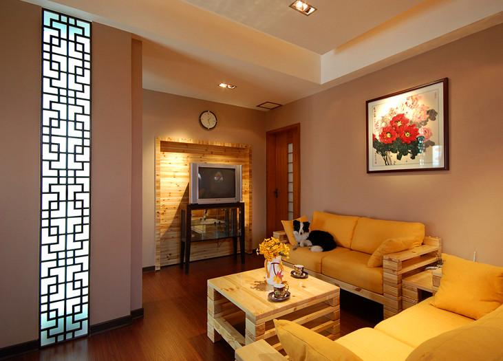 原木色装修小客厅效果图装修效果图