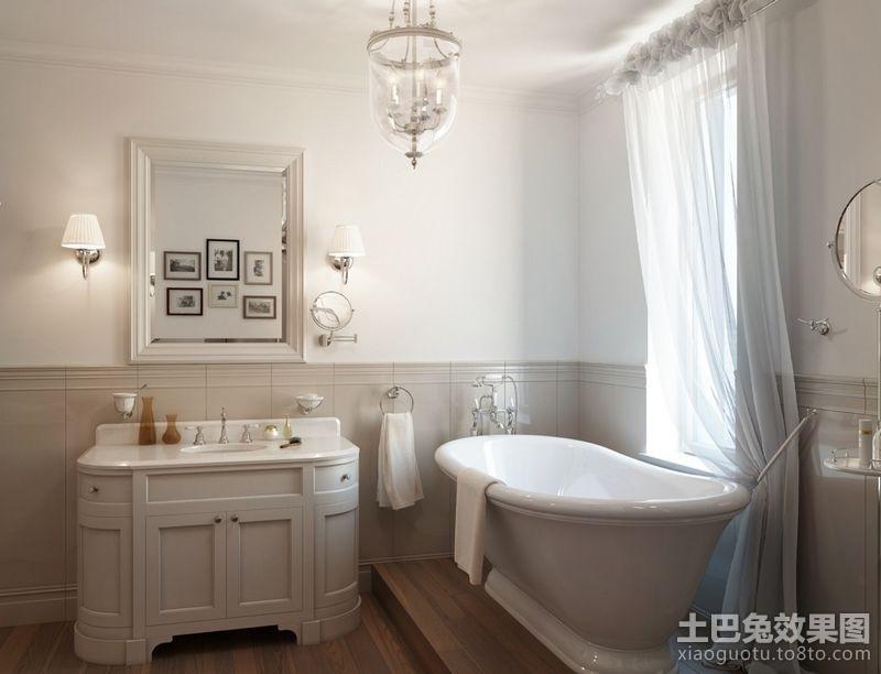 130平米三居室白色洁净的卫生间装修效果图大全2012图片 (3/4)