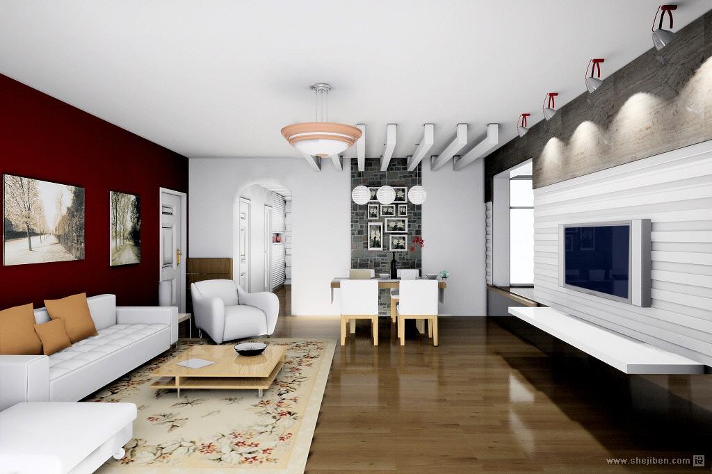 90平米小户型客厅电视背景墙装修效果图大全 (3/3)
