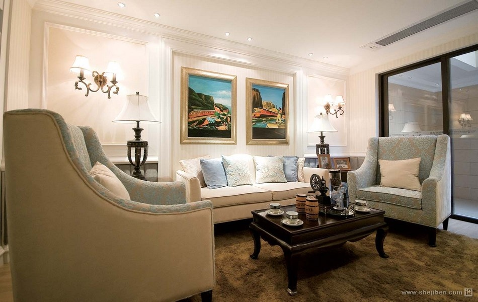 欧式奢华的客厅装修效果图大全2012图片装修效果图