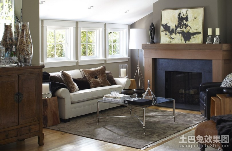 110平米两室两厅欧式现代客厅装修效果图装修效果图