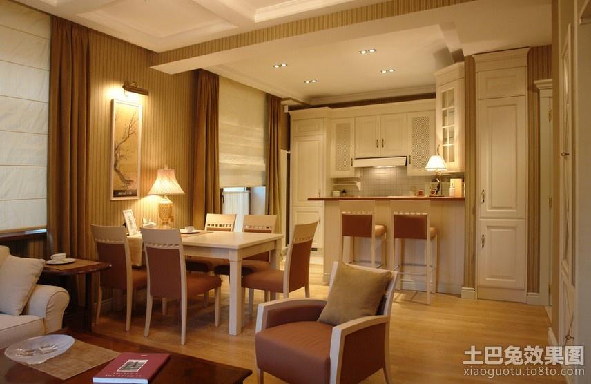 60平米小户型美式餐厅装修效果图 (1/3)图片