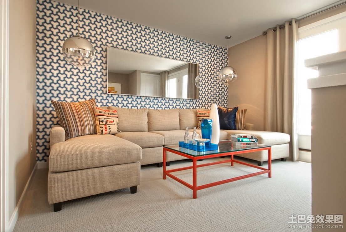 简约风格客厅沙发背景墙装修效果图装修效果图