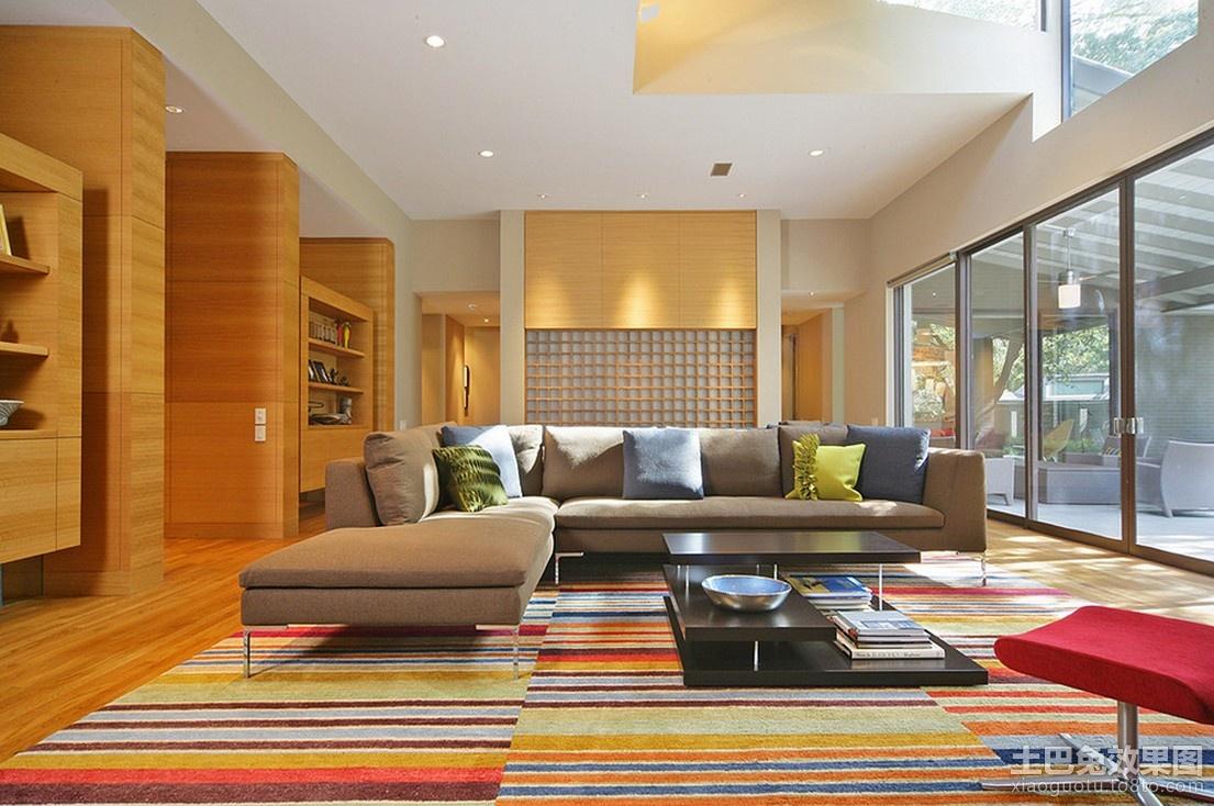 2012长方形客厅装修效果现代风格装修效果图 第3张 家居图库 九正家高清图片