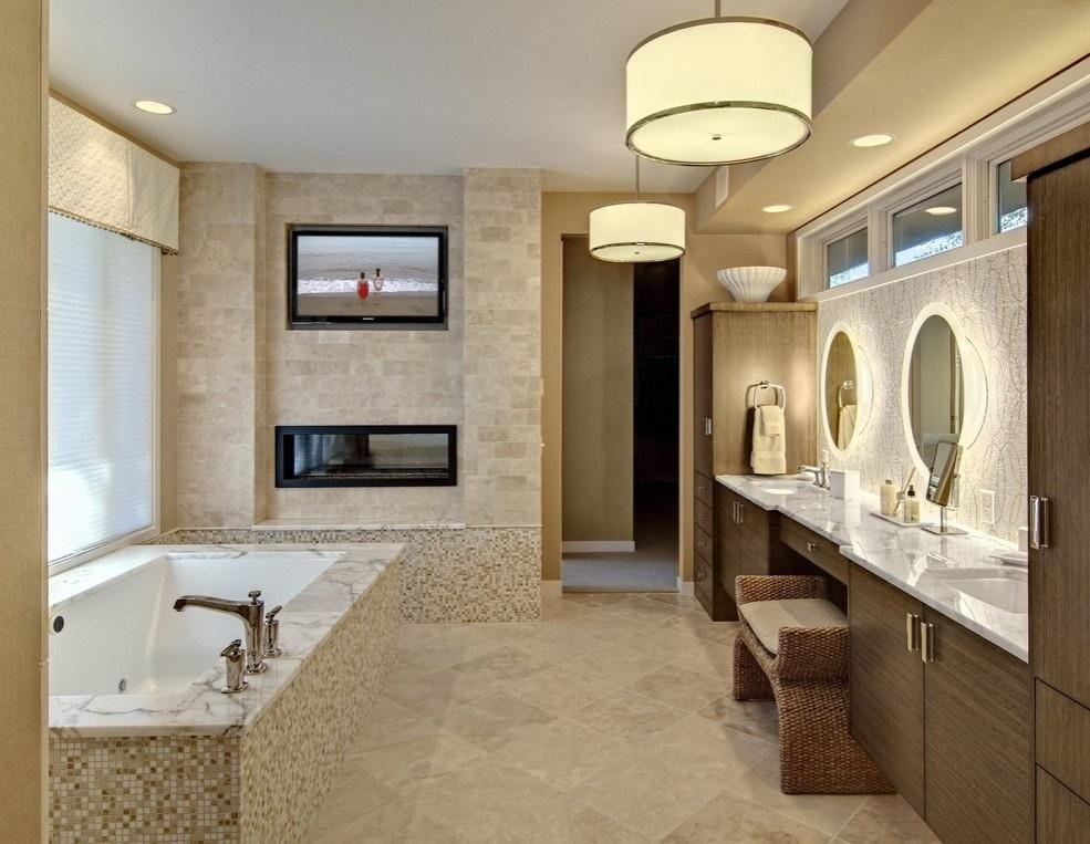 欧式室内装修卫生间浴缸效果图 (5/5)图片