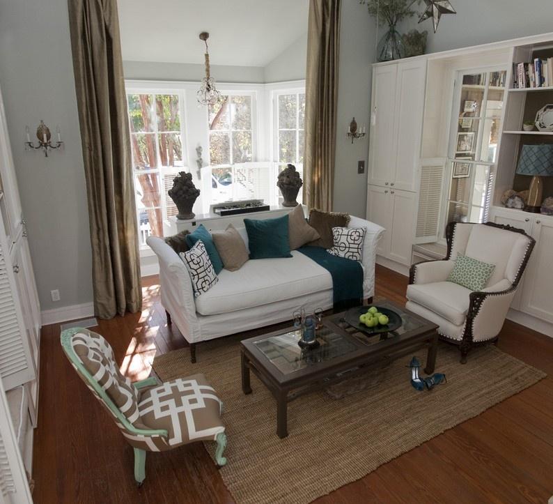 简欧90平米房子客厅装修设计图高清图片