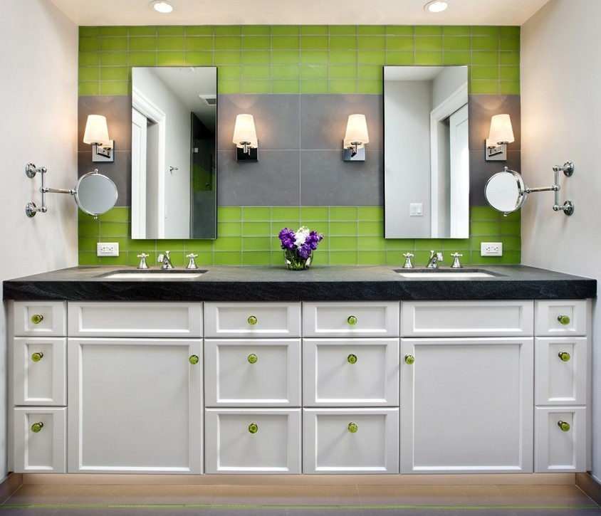 整体欧式浴柜图片装修效果图