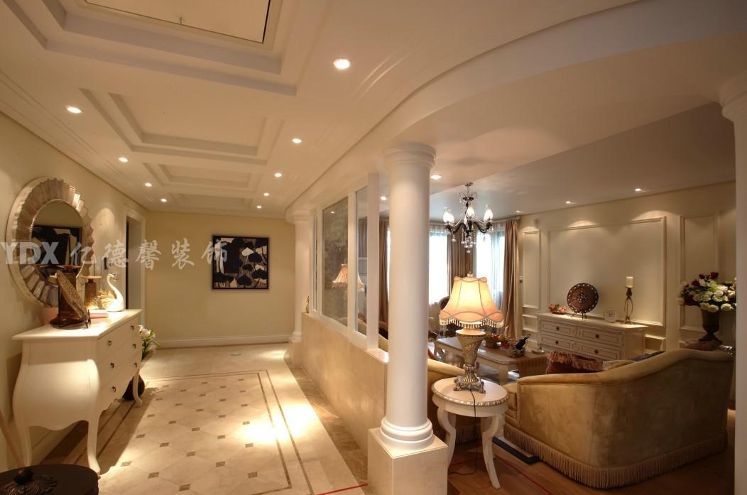 欧式客厅过道柱子装修效果图装修效果图