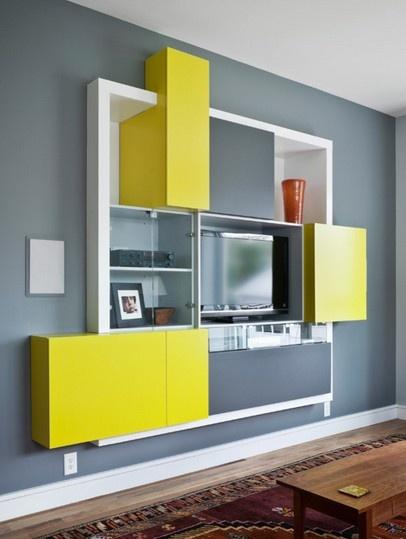 电视柜背景墙装修效果图(3/8)家里线条墙颜色一般用什么背景图片