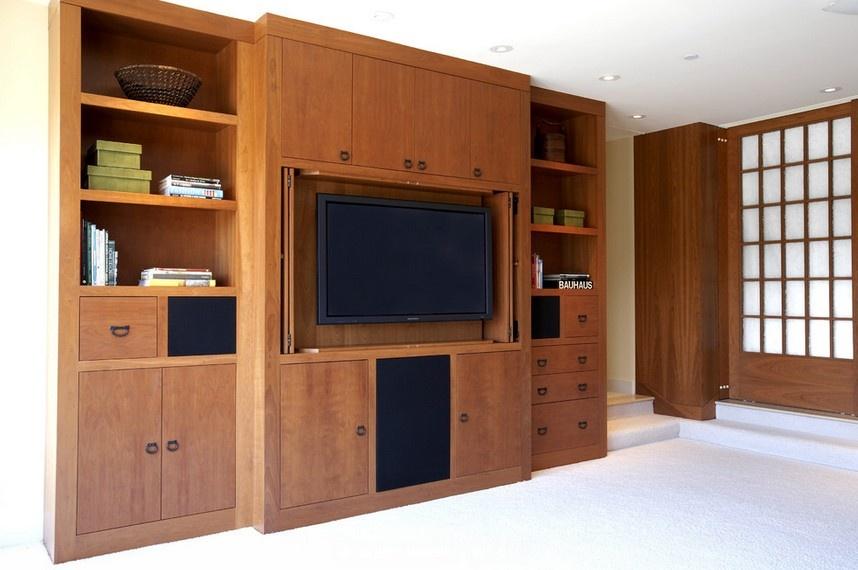 客厅实木电视柜装修效果图(4/5)船舱装修图片