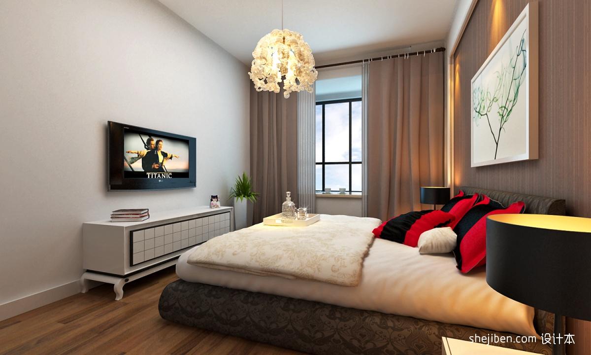 卧室电视墙效果图手绘