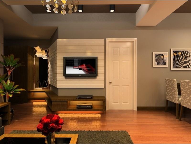 现代风格小户型电视墙装修效果图大全