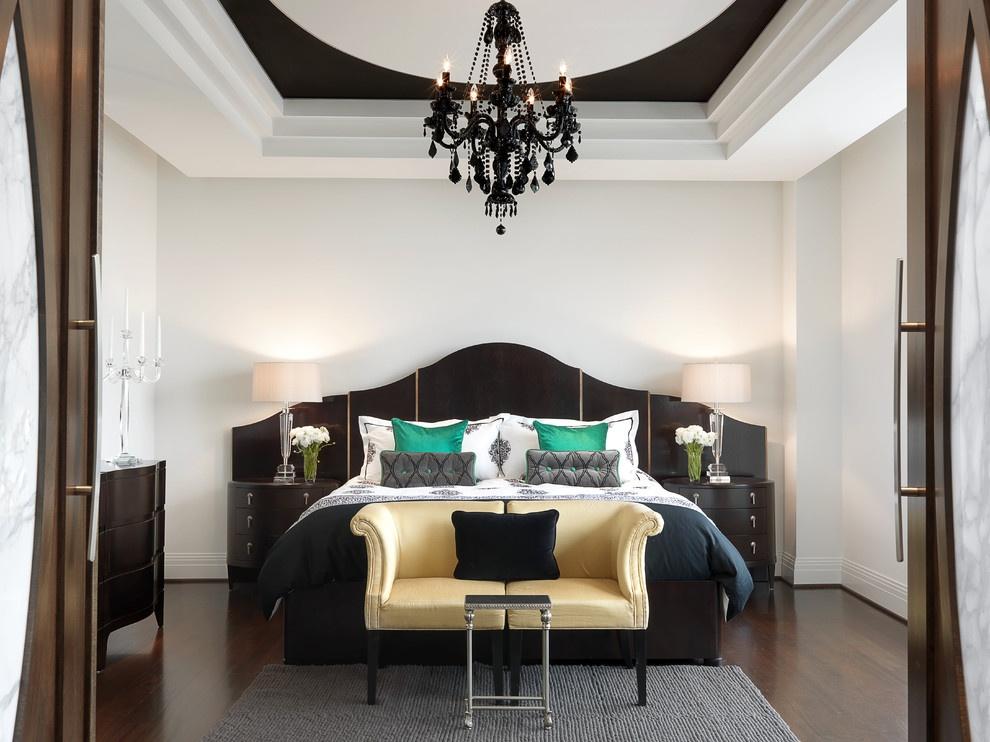 美式现代主卧室装修效果图大全 卧室吊顶装修效果图