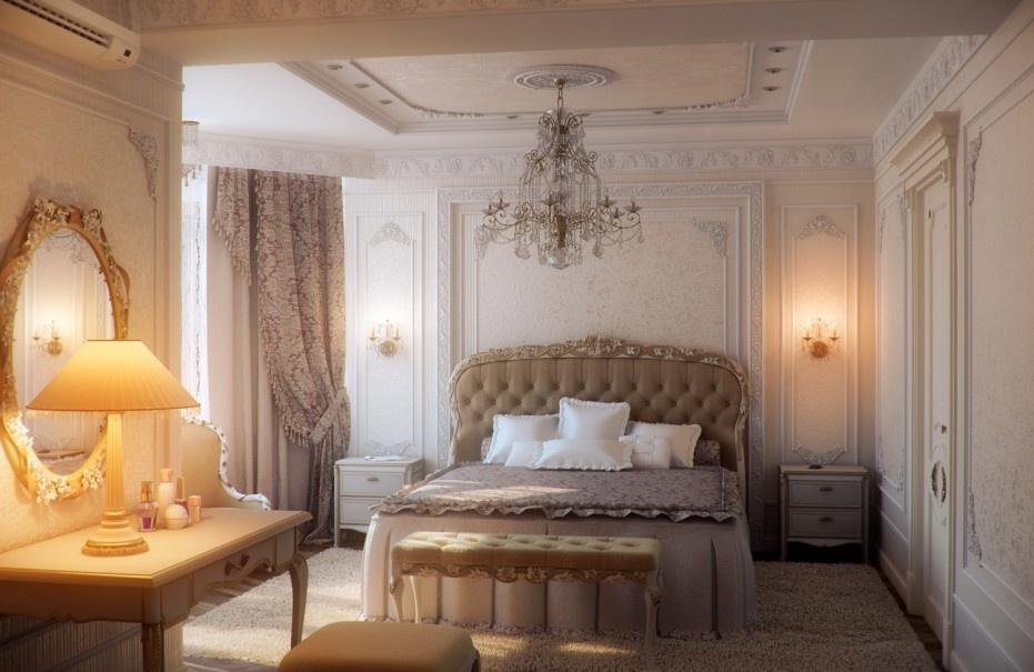 欧式豪华卧室装修效果图大全 卧室吊顶装修图片