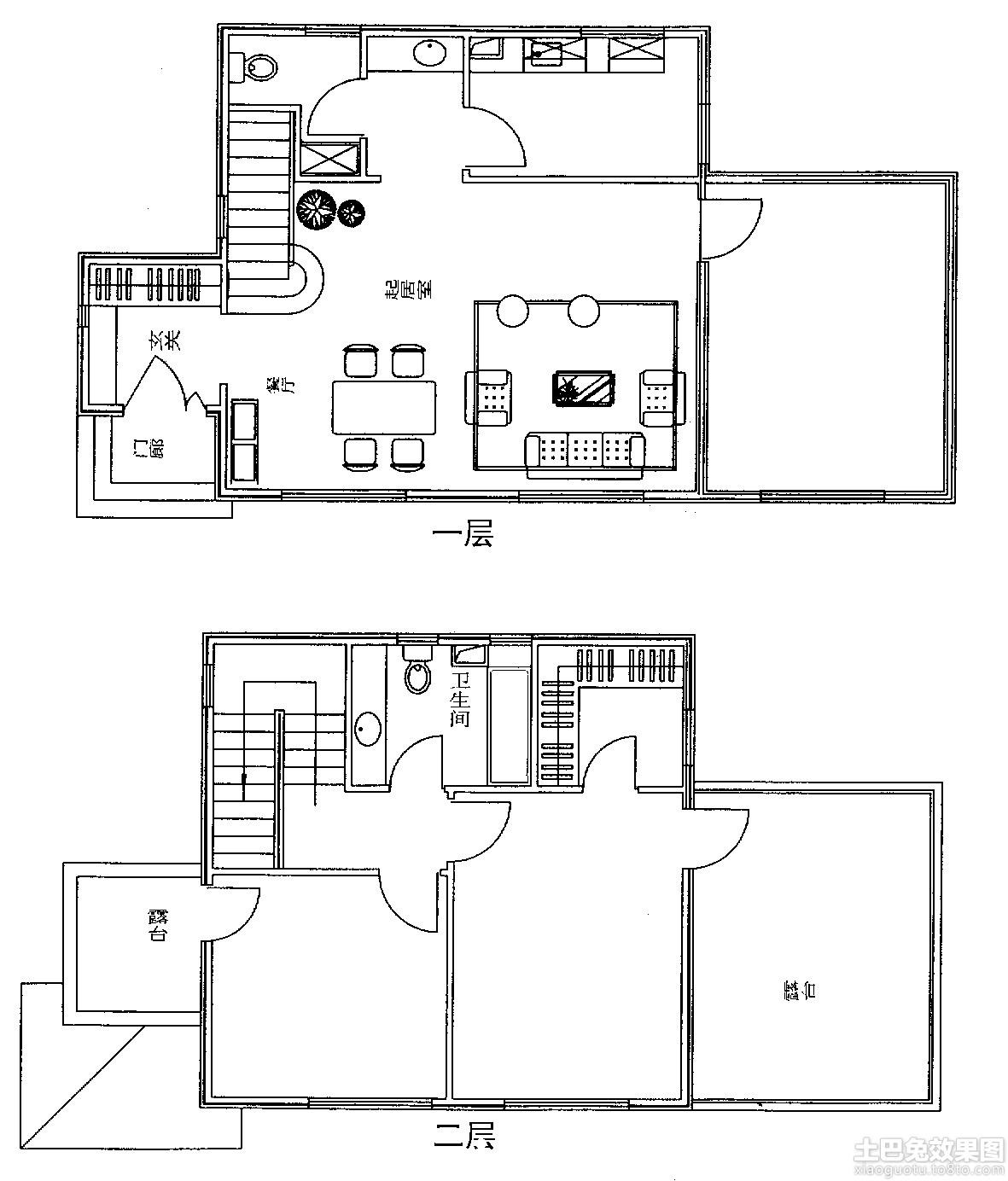 农村二层房子设计平面图 (11/11)图片