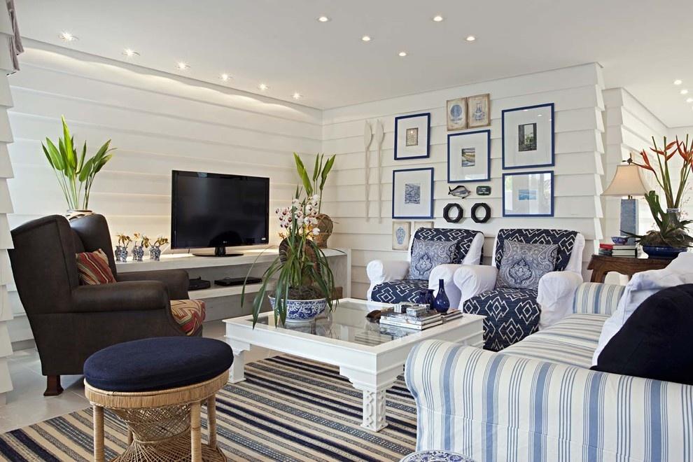 最新地中海风格客厅装修效果图