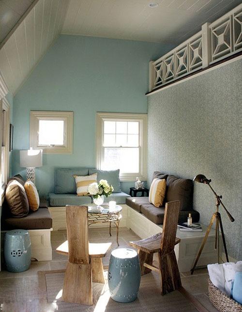 斜顶阁楼客厅沙发装修效果图大全