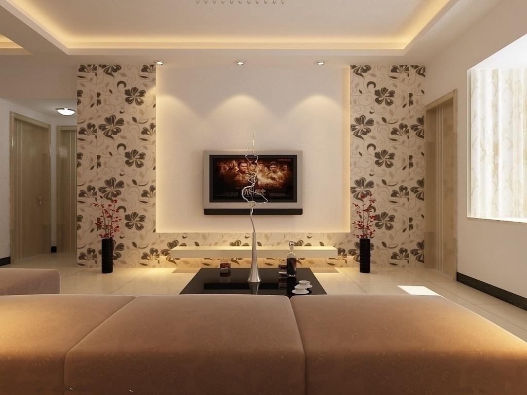 家居图库 2013客厅电视背景墙墙纸装修效果图 > 第6张