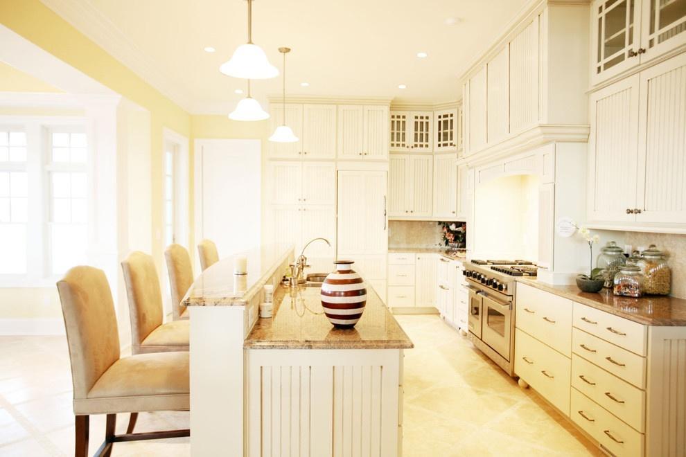 欧式开放式厨房吧台装修设计效果图装修效果图