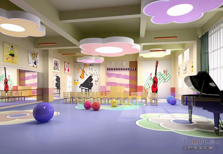 少儿学校舞蹈室设计装修效果图 第3张 家居图库 九正家居网高清图片
