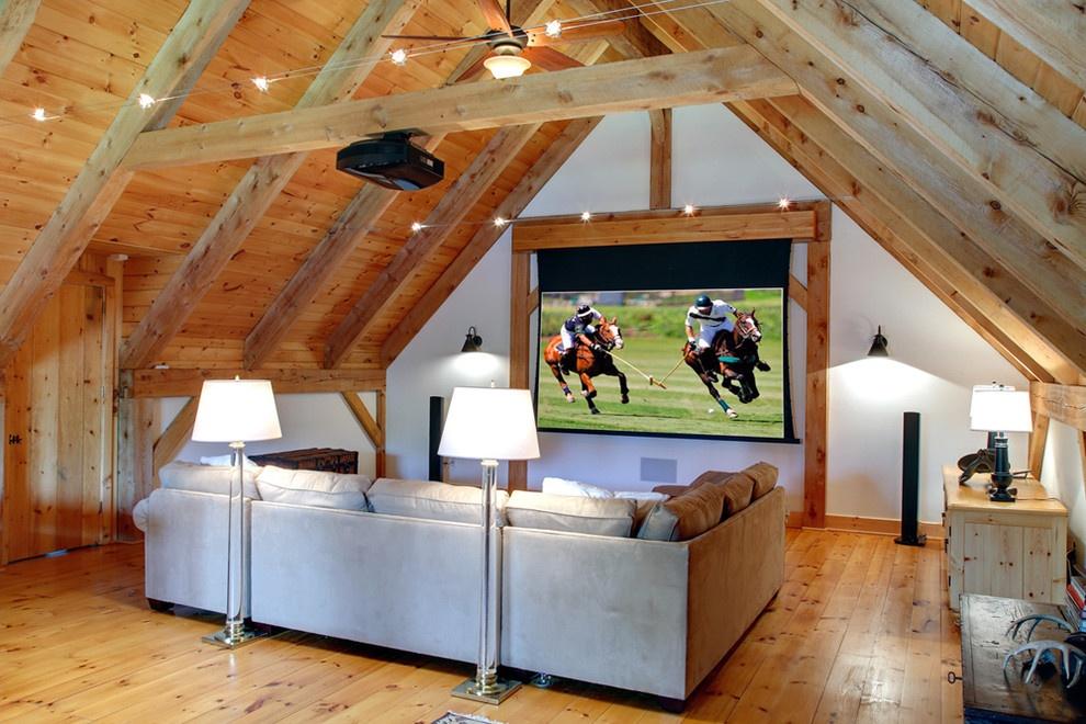 斜顶原木电视机背景墙装修效果图装修效果图