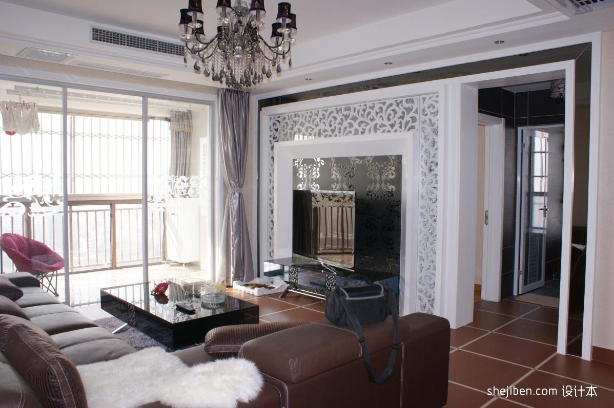 欧式客厅雕花电视背景墙装修效果图装修效果图