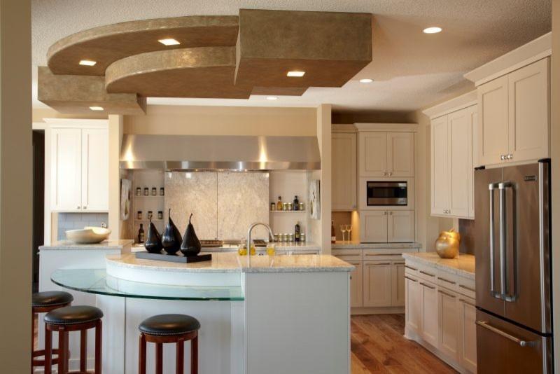 别墅开放式厨房吊顶效果图装修效果图