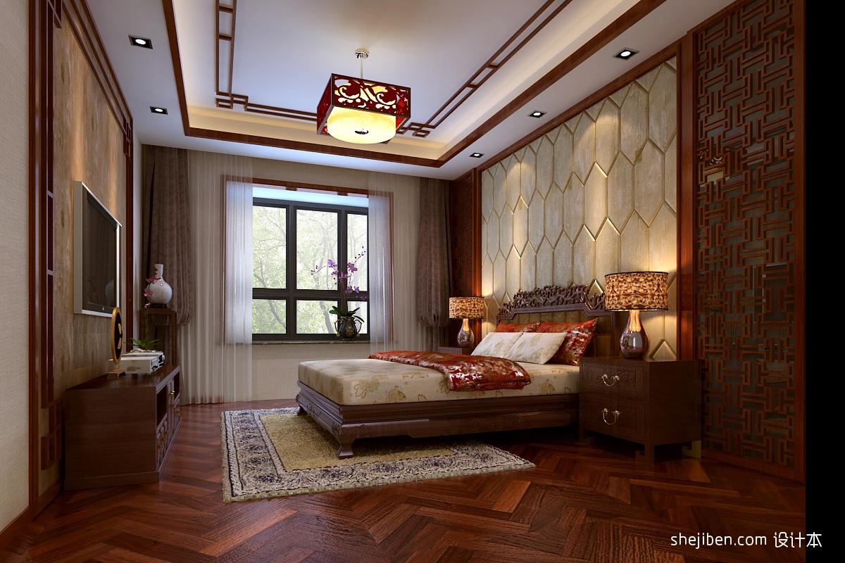 中式主卧室吊顶装修效果图装修效果图