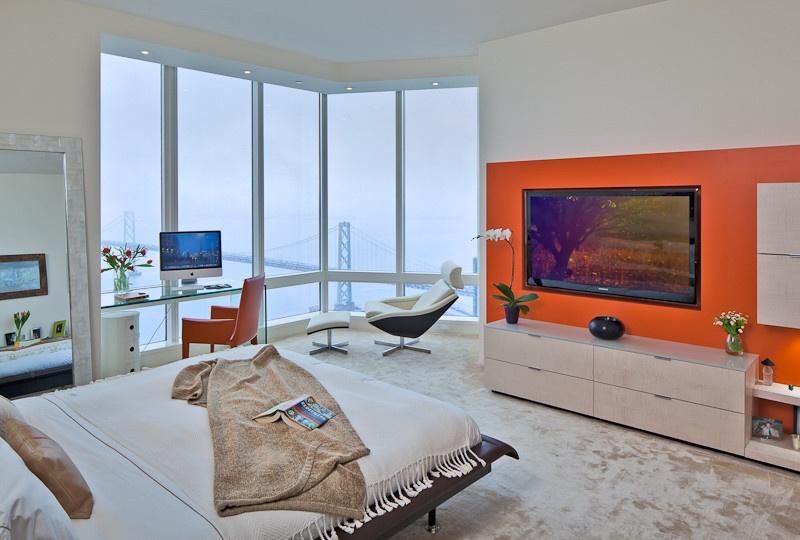 现代风格电视背景墙
