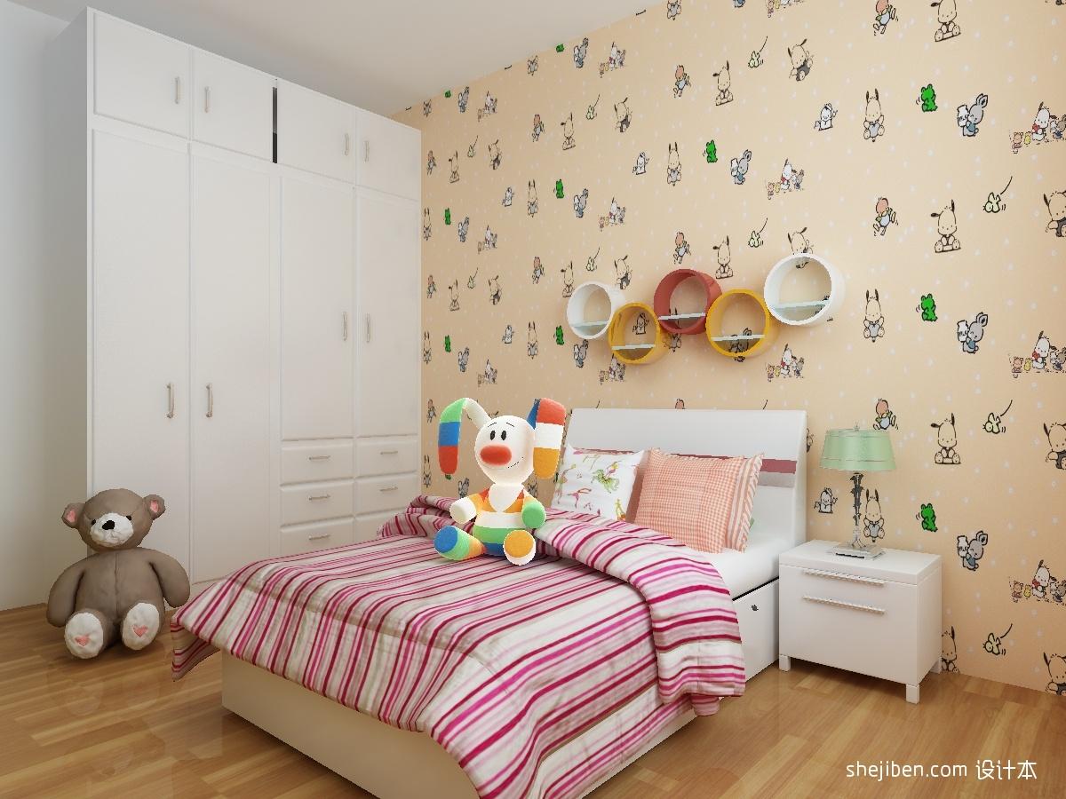 儿童房壁纸装修效果图装修效果图