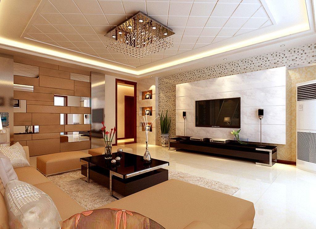 现代风格装修客厅背景墙