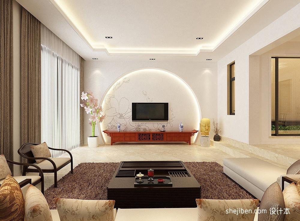 新中式客厅电视背景墙效果图大全2013图片装修效果图图片