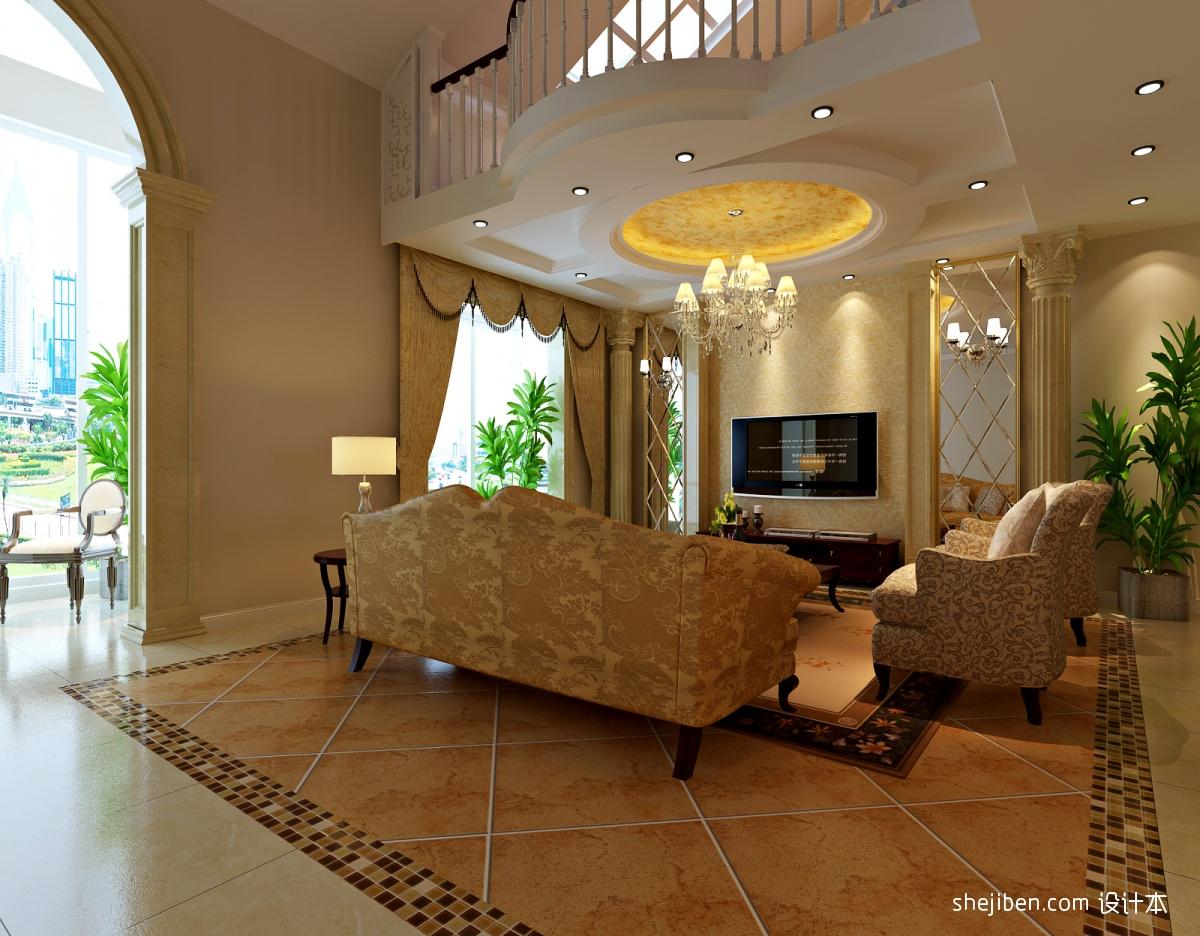 欧式客厅地板砖效果图 (2/4)图片