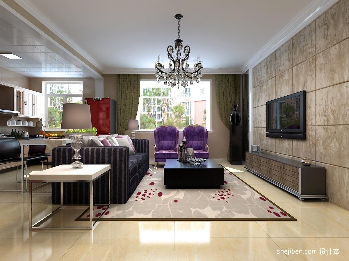 现代客厅天花板吊顶效果图装修效果图