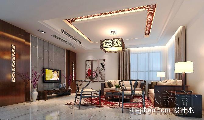 新中式别墅一楼客厅装修效果图装修效果图 第3张 家居图库 九正家居网高清图片