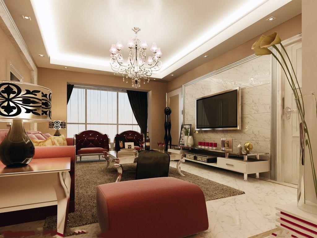 欧式家装客厅背景墙效果图装修效果图