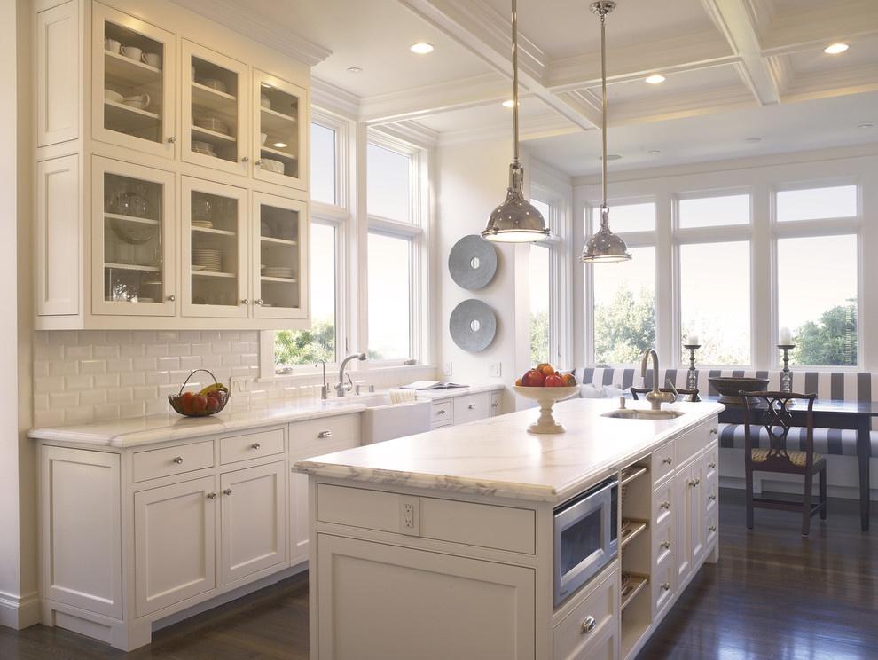 欧式风格开放式一字型厨房装修效果图 (4/5)图片