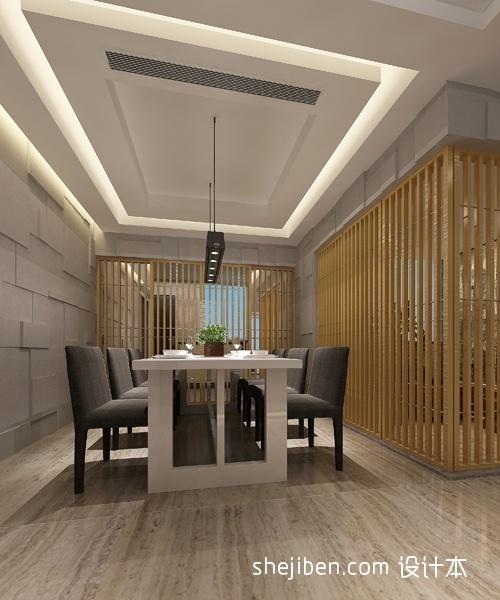 餐厅木质隔断效果图装修效果图