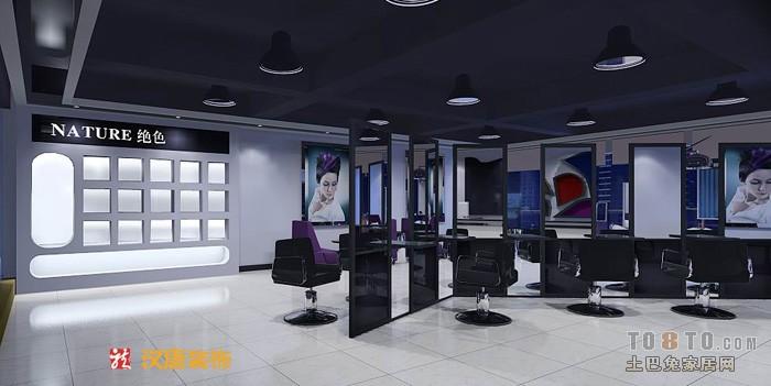 40平美发店装修效果图装修效果图 第1张 家居图库 九正家居网高清图片