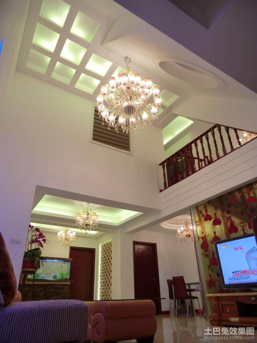复式楼装修客厅吊顶效果图 (2/2)图片
