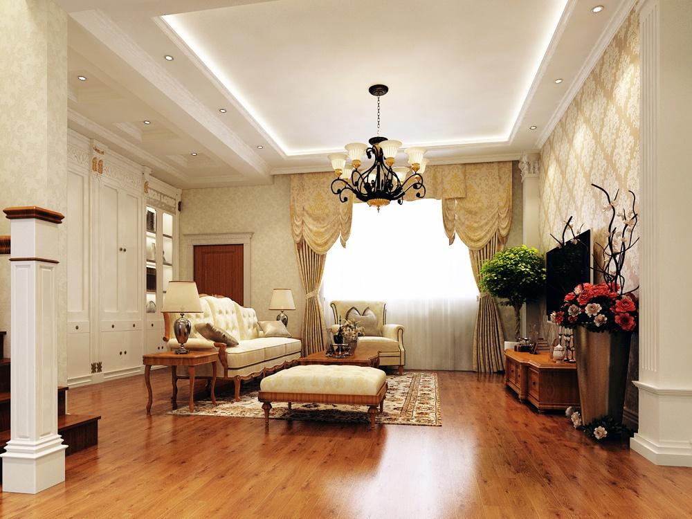 欧式大客厅吊顶设计效果图装修效果图