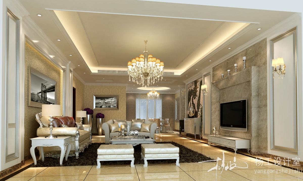 最新欧式客厅电视背景墙装修效果图大全2013图片 第7张 九正家居装修效果图