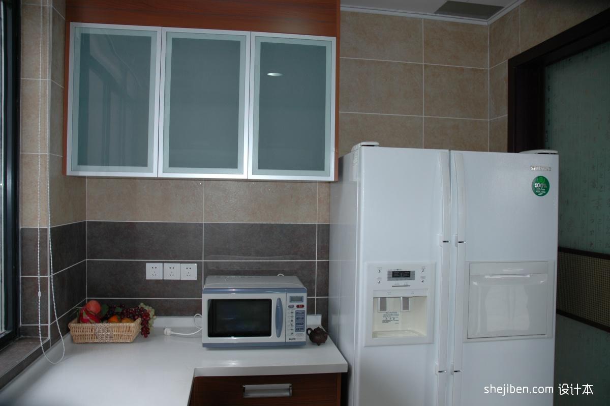 新中式小户型开放式厨房装修效果图大全2013图片 (1/4)