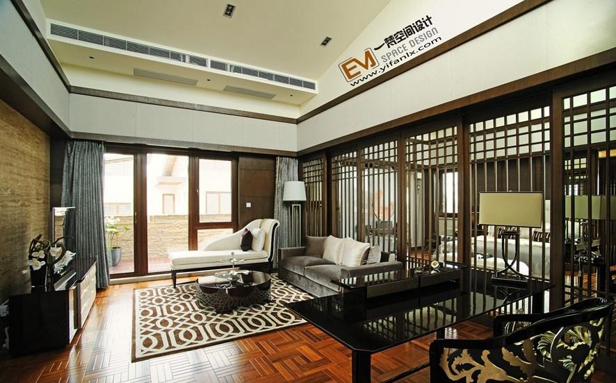 新中式客厅隔断效果图片装修效果图