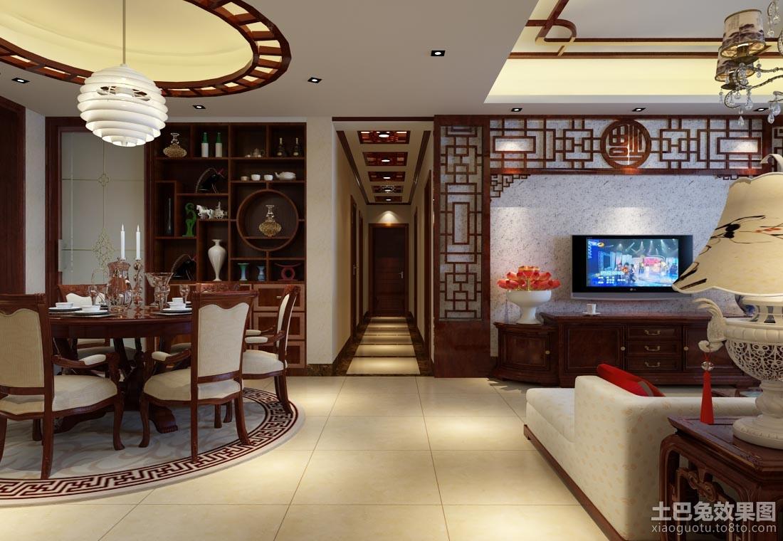 新中式客餐厅装修效果图 (2/6)图片