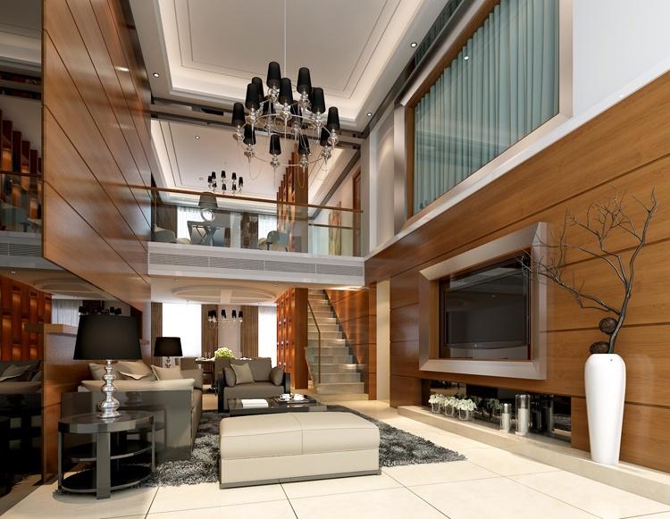 复式客厅设计效果图装修效果图_第7张 - 家居图库图片