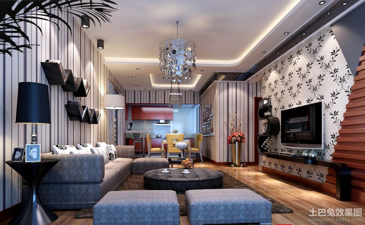 2013现代客厅电视背景墙设计图 (1/1)
