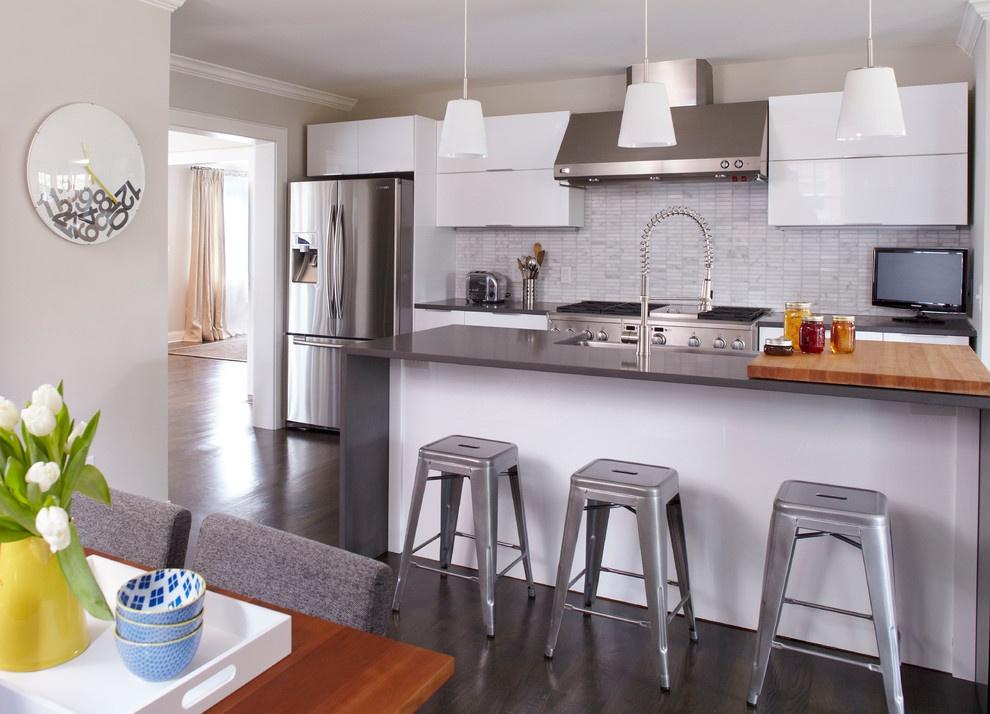 现代开放式厨房吧台装修设计装修效果图 第4张 家居图库 九正家居网图片
